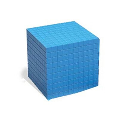 Learning Resources Base Ten Cube Plastic Bl 10x10x10cm