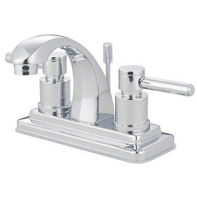 Elements of Design Tampa Centerset Bathroom Faucet with Double Lever Handles