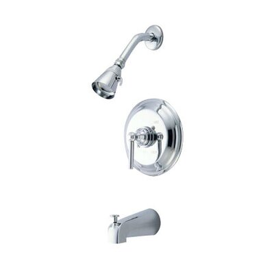 Elements of Design Tampa Thermostatic Tub and Shower Faucet Trim with Concord Lever Handle