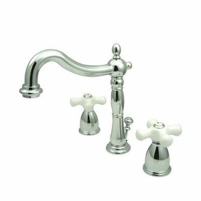 Heritage Widespread Bathroom Faucet with Double Porcelain Cross Handles - EB197