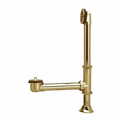 Elements of Design Vintage Brass Claw Foot Tub Drain with Lift And Turn