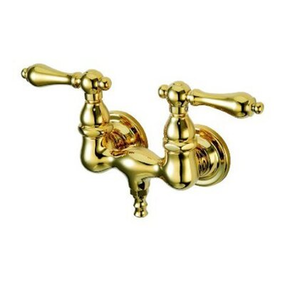 Elements of Design Vintage Double Handle Wall Mount Clawfoot Tub Faucet Trim Metal Lever Handle