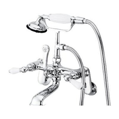 Elements of Design Hot Springs Double Handle Wall Mount Clawfoot Tub Faucet Trim