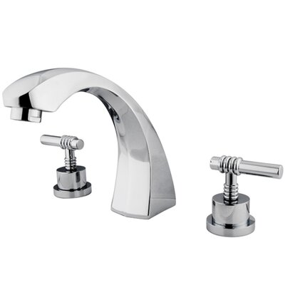 Elements of Design Double Handle Deck Mount Roman Tub Faucet Trim Milano Lever Handle