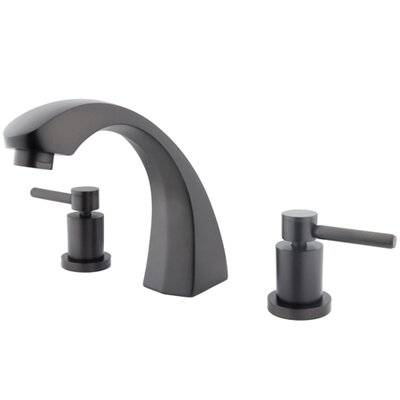Elements of Design Double Handle Deck Mount Roman Tub Faucet Trim Concord Lever Handle