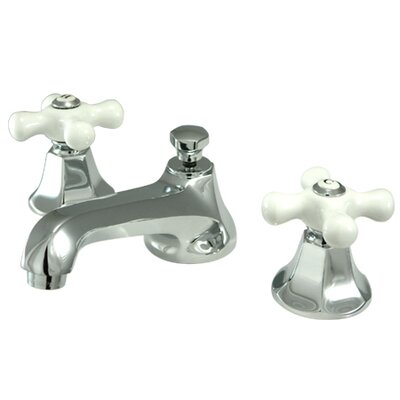 Elements of Design Metropolitan Widespread Bathroom Faucet with Double Porcelain Cross Handles