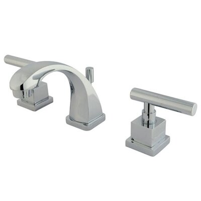 Elements of Design Mini Widespread Bathroom Faucet with Double Lever Handles