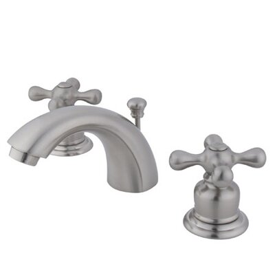 Elements of Design Elizabeth Mini Widespread Bathroom Faucet with Double Cross Handles