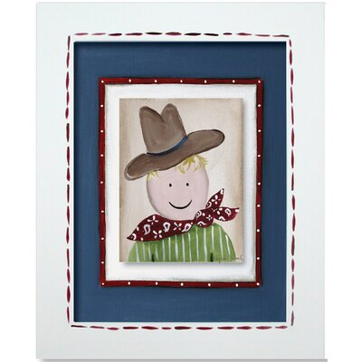 Doodlefish Western Cowboy Framed Giclee Wall Art