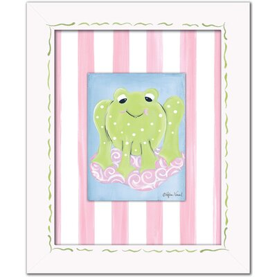 Doodlefish Frogs Girl Frog Framed Giclee Wall Art