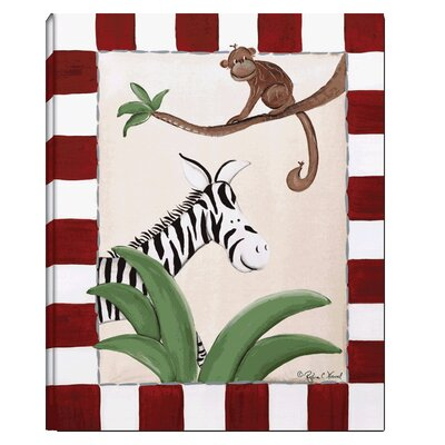 Zebra / Monkey Stretched Giclee