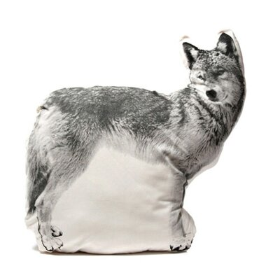 Fauna Large Organic Cotton Wolf Cushion