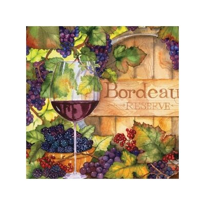 "Magic Slice 12"" x 15"" Bordeaux Design Cutting Board"