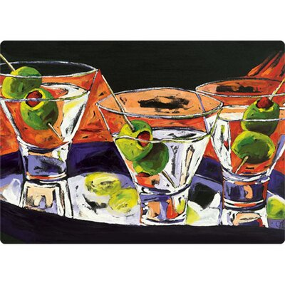"Magic Slice 5"" x 7"" Three Martinis Design Cutting Board"