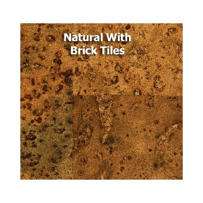 QU-Cork 3' x 1' Cork Tile in Natural with Brick Tiles