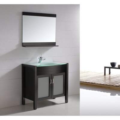 "Virtu Vina Single 35.4"" Bathroom Vanity Set in Espresso"
