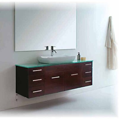 "Virtu Biagio 56"" Bathroom Vanity Set in Espresso"