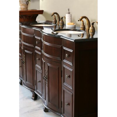 "Virtu Cathy Double 72"" Bathroom Vanity in Antique Cherry"