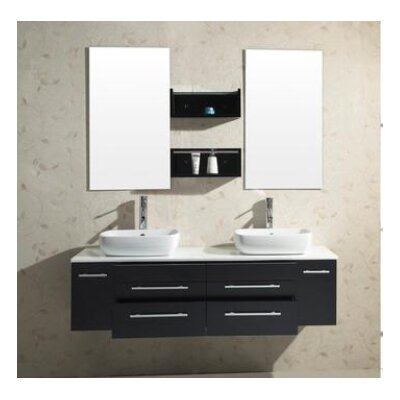 "Virtu Augustine 59.8"" Double Bathroom Vanity Set"