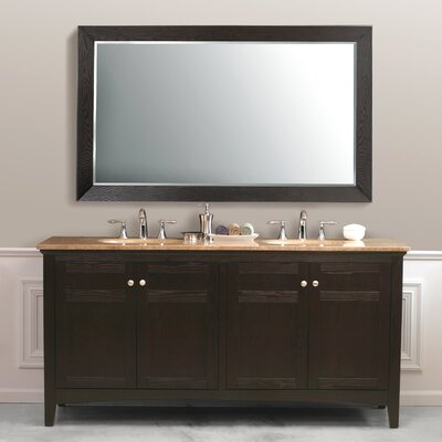 "Virtu Amerigo 72"" Double Bathroom Vanity in Dark Espresso"