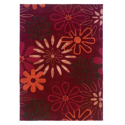 Linon Rugs Trio Garnet/Orange Rug