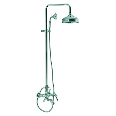 Fima by Nameeks Epoque Wall Mount Thermostatic Tub and Shower Faucet with Hand Shower