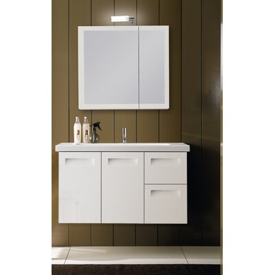 "Iotti by Nameeks Integral 38.3"" Wall Mounted Bathroom Vanity Set"