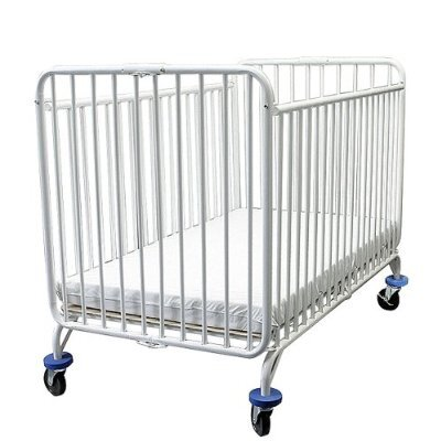 L.A. Baby Full Size Folding Metal Crib