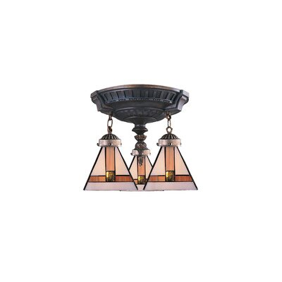 Landmark Lighting Mix-N-Match 3 Light Semi Flush Mount