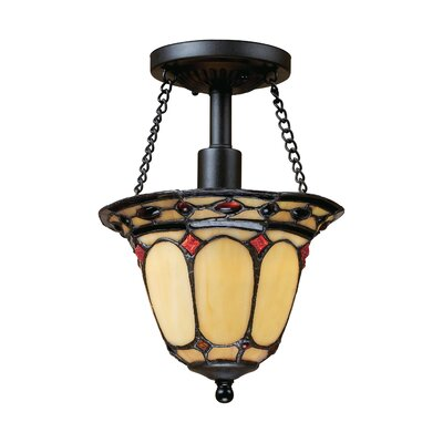 Landmark Lighting Diamond Ring 1 Light Semi Flush Mount