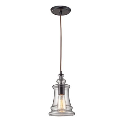Landmark Lighting Menlow Park 1 Light Pendant with Clear Blown Glass