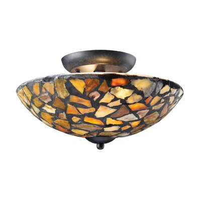 Landmark Lighting Trego 2 Light Semi Flush Mount