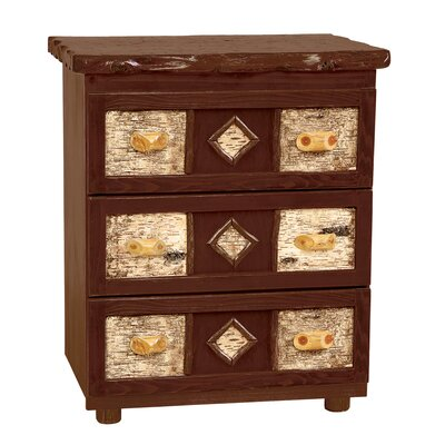 Fireside Lodge Traditional Cedar Log 3 Drawer Chest