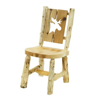 Fireside Lodge Cedar Counter Height Cut-Out Log Side Chair