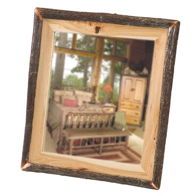 Fireside Lodge Hickory Log Mirror in Espresso