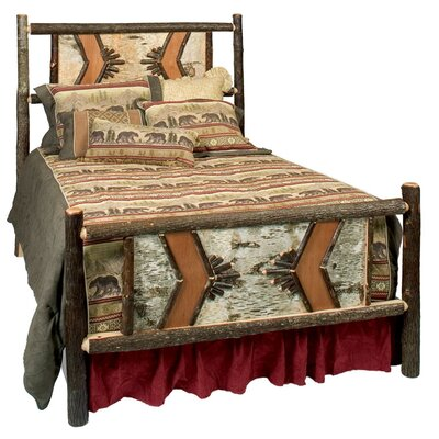 Fireside Lodge Hickory Panel Bed