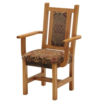 Fireside Lodge Reclaimed Barnwood Fabric Arm Chair