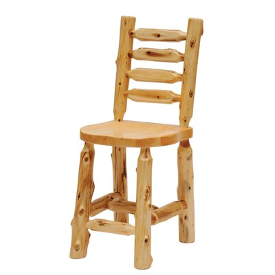 Fireside Lodge Cedar Ladder Back Counter Height Side Chair