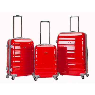 Rockland Atlantis 3 Piece Polycarbonate/ABS Luggage Set