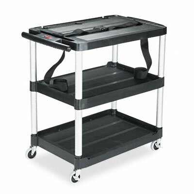 Rubbermaid Commercial Mediamaster 3-Shelf Av Cart