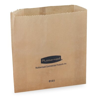 Rubbermaid Waxed Receptacle Bags,  250 Bags per Carton