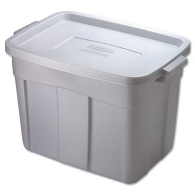 Rubbermaid 18 Gallon Roughneck Storage Box in Steel Gray