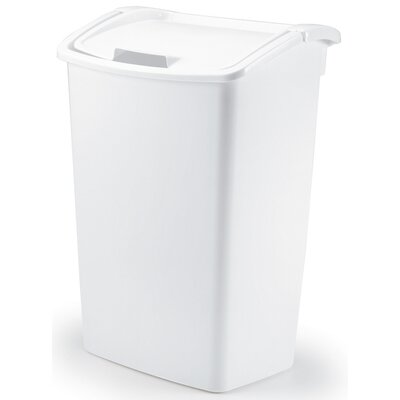 Rubbermaid 45 Quart White Dual Action Wastebasket