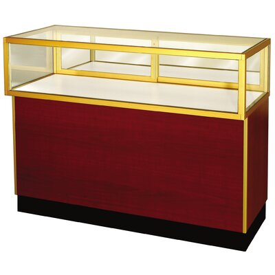 "Sturdy Store Displays Streamline 38"" x 36"" Jewelry Vision Standard Showcase with Panel Back"