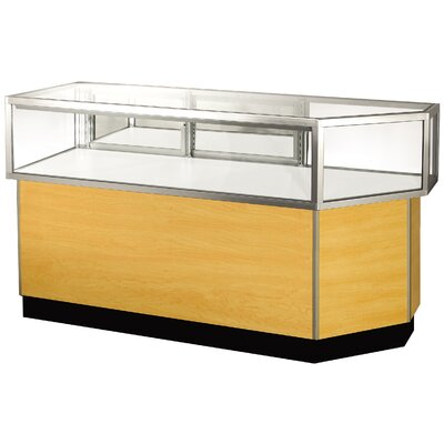 "Sturdy Store Displays Streamline 38"" x 68"" Jewelry Vision Corner Combination Showcase with Panel Back"