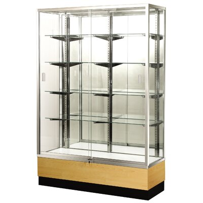"Sturdy Store Displays Streamline 70"" x 15"" Trophy Case with Mirror Back"