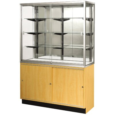"Sturdy Store Displays Streamline 48"" x 18"" Wallcase with Panel Back"