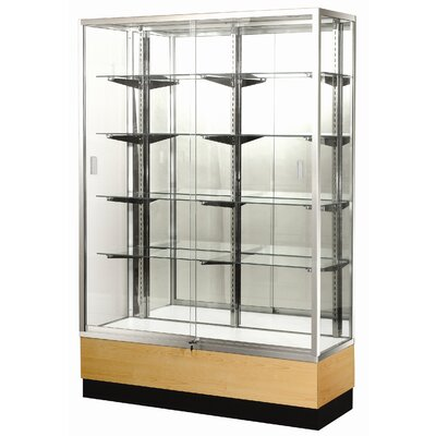 "Sturdy Store Displays Streamline 48"" x 15"" Trophy Case with Glass Back"