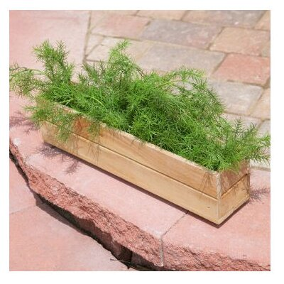 Diamond Teak Rectangular Window Box Planter