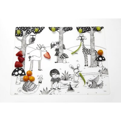 Modern-Twist Day at the Pond Placemat in Black